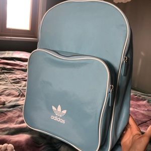 Adidas backpack in baby blue